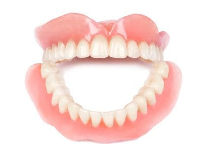 Medical denture on white background
